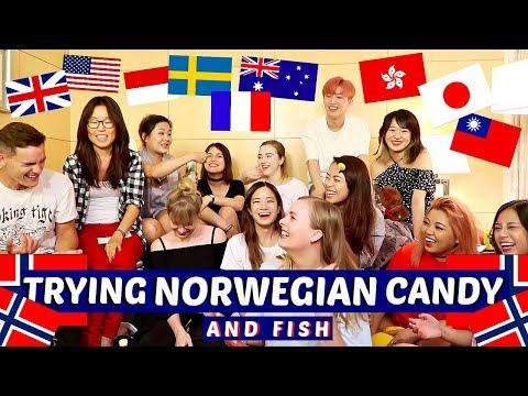 YOUTUBERS TRY NORWEGIAN CANDY & FISH