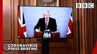 Covid: Tis the season to be jolly careful, Boris Johnson 🔴 @BBC News live - BBC