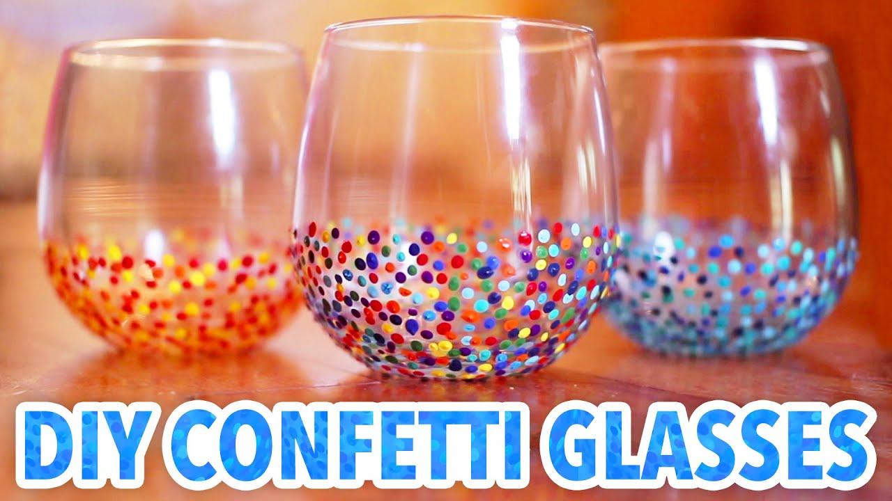 Well known DIY Confetti Glasses - HGTV Handmade - YouTube ZA02