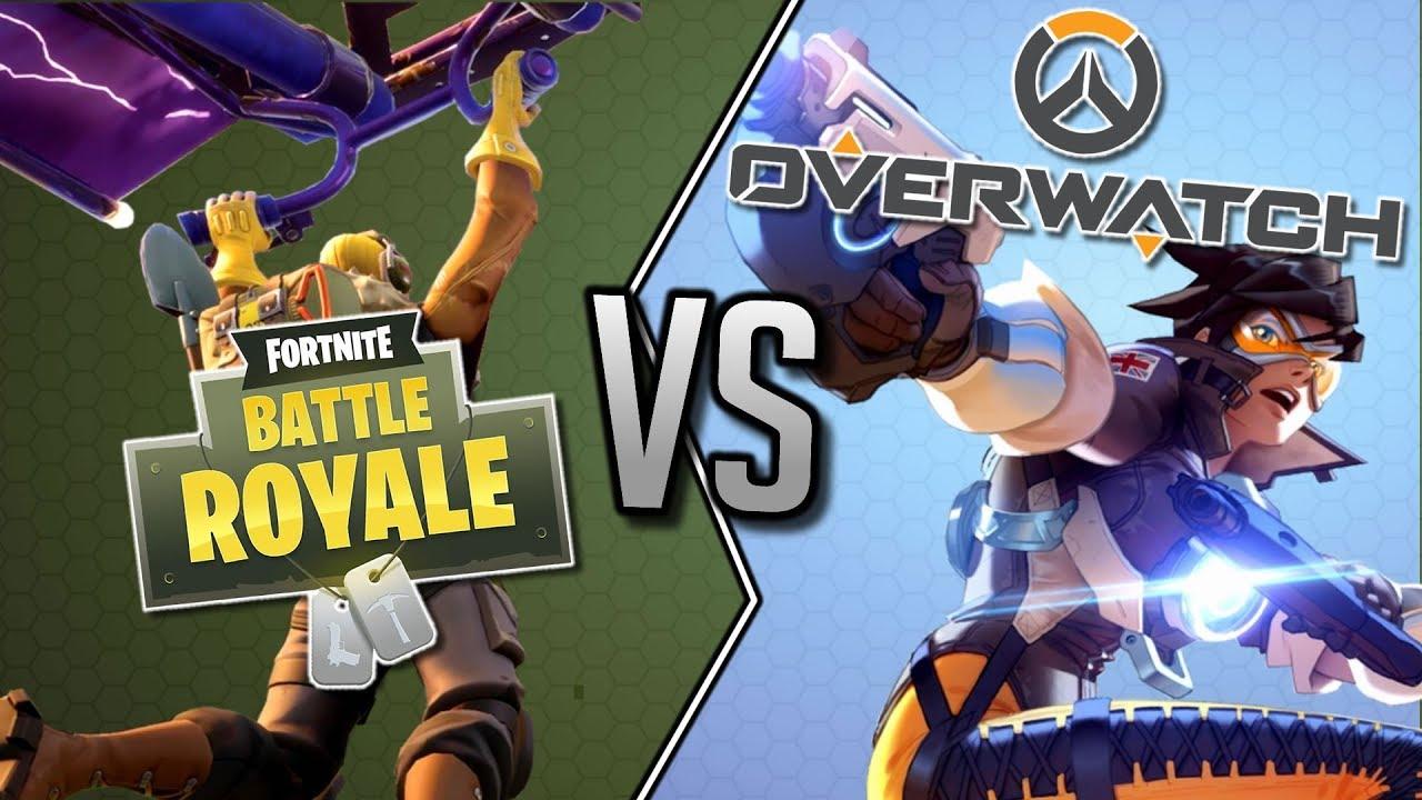 overwatch vs fortnite battle royale - fortnite vs battle royale