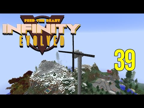 Minecraft FTB Infinity Evolved Ep: 39 Part 1 - Kinetic Generator & Kinetic Wind Generator
