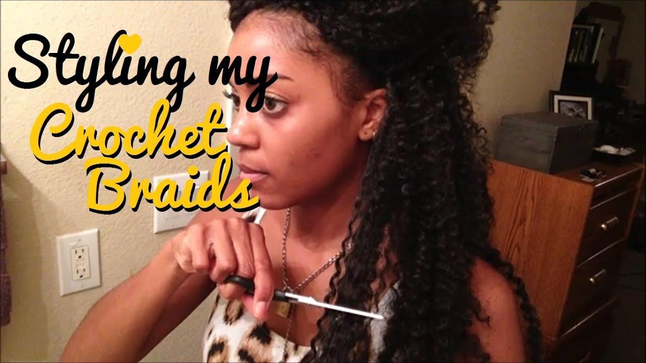 Crochet Braids Last How Long : 17} Styling Long Crochet Braids - YouTube