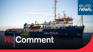 Alan Kurdi migrant rescue ship escapes rough seas and docks in Sardinia
