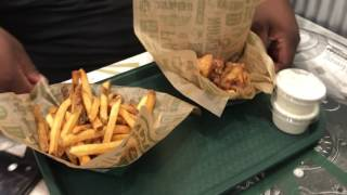 Wing Stop X Canes Chicken - vlog review
