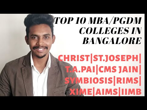 Top 10 MBA/PGDM College in Bangalore | Top Business School with low fees & good placement record