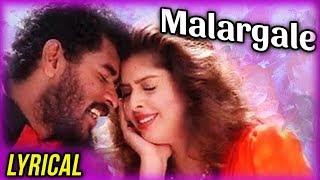 Malargale Malargale Lyrical | Love Birds | Prabhu Deva, Nagma | A. R. Rahman | Hariharan | Chithra