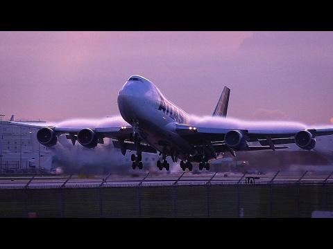 Lovely Morning Boeing 747 Takeoff