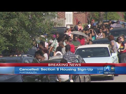 Event cancelled after hundreds line up for Section 8 housing applications