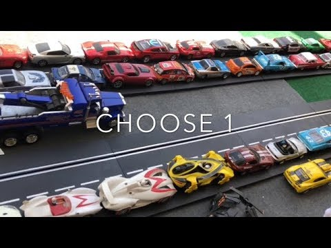 "TOY SLOT CAR DRAG RACING ""Decide Your Ride"""