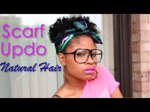 summer scarf updo natural hair
