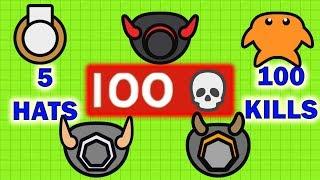 Moomoo.io - 5 Hats, 100 Kills (Moomoo.io Mega Compilation)