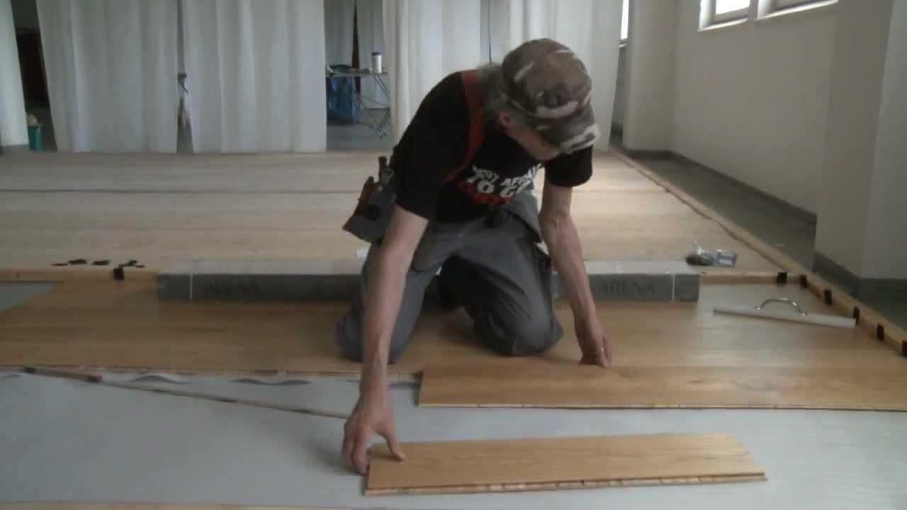 Arena golvläggning - YouTube