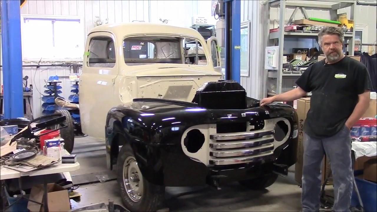 1950 Ford F47 F1 Restoration Update, Re Assembly Front End, Part 1,  lastchanceautorestore com