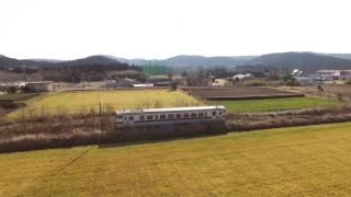 PHANTOM 4 日向北方駅付近でJR九州日南線を空撮 Litchi