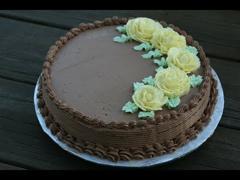 G teau cr me au beurre chocolat chocolate buttercream - Decoration gateau avec creme chantilly ...