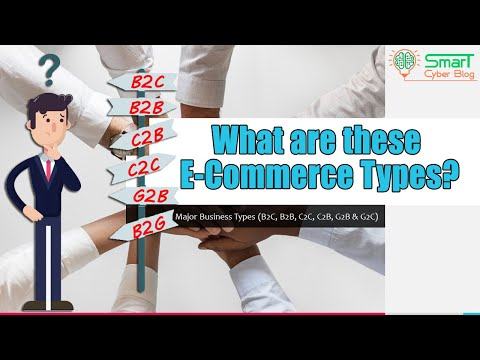 What Are The B2C B2B & B2G C2C C2B G2B & G2C B2G & C2G Business Types Of E-Commerce?  With Examples!