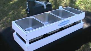 The Maxi Table Top Concession 3 4 Bay Sink