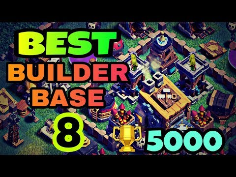 BEST BUILDER BASE 8 LAYOUT WITH REPLAY | BUILDER HALL 8 BEST BASE DESIGN IN COC | CLASH OF CLANS