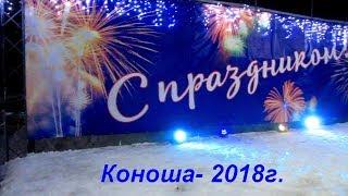 Коноша встречает Новый, 2018-й год.