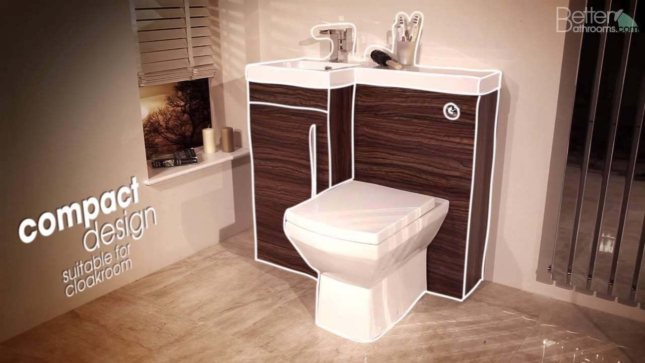 Apex Walnut Combination Unit - Bathroom Furniture - YouTube