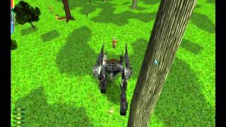 Anarchy Online Mech  - test on animals