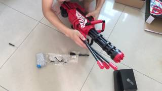 Gatling Water Bullet Gun for Water Fun water minigun soft crystal water gun