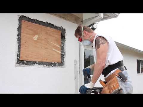 Easiest way to to break out Stucco Render or cement plaster