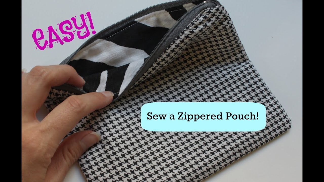 9b1cb1cdfc84 How to Sew a Basic Zippered Pouch - YouTube