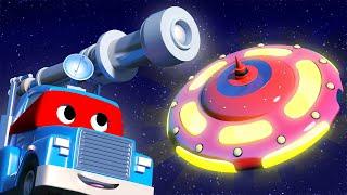 Video xe tải cho trẻ em - Siêu xe tải là Xe tải kính thiên văn và khám phá UFO - phim hoạt hình về 🚗