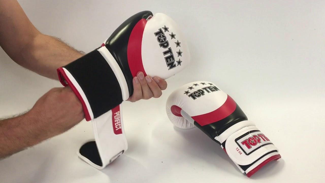 Top Ten Fight Boxing Gloves Black//White