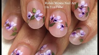 Lavender Flower Nail Art | Elegant + Inexpensive Nail Ideas