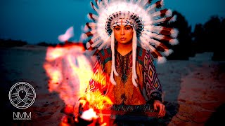 Native American Flute Sleep: 🔥 Indigenous Low flute & Fire 🔥 night sounds sleep meditation