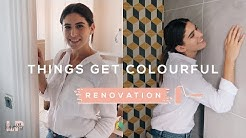 CRAZY YELLOW TILES & PAINTING OUR BEDROOM: RENOVATION VLOG | Lily Pebbles