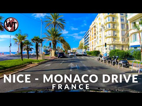 Driving From Nice City To Monaco - 🇫🇷 France - 4K Virtual Tour