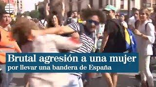 Brutal_agresión_a_una_mujer_por_llevar_una_bandera_española