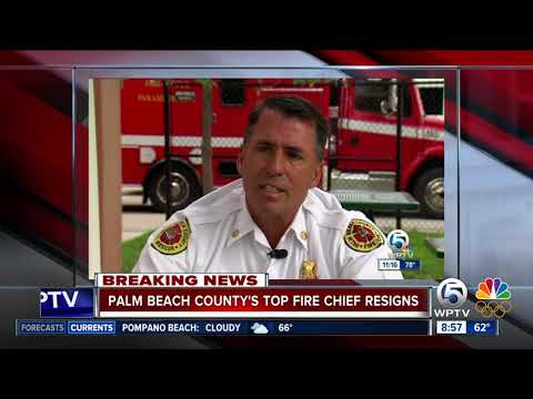 Palm Beach County Fire Rescue's top Fire Chief, Jeff Collins, resigns effective immediately