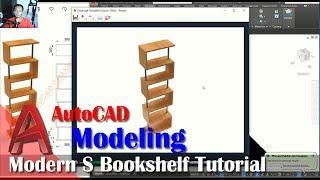 Modern S Bookshelf Modeling Tutorial With AutoCAD