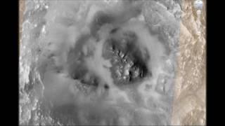 Вода, лёд, облака на Марсе. То, что не заретушировали.