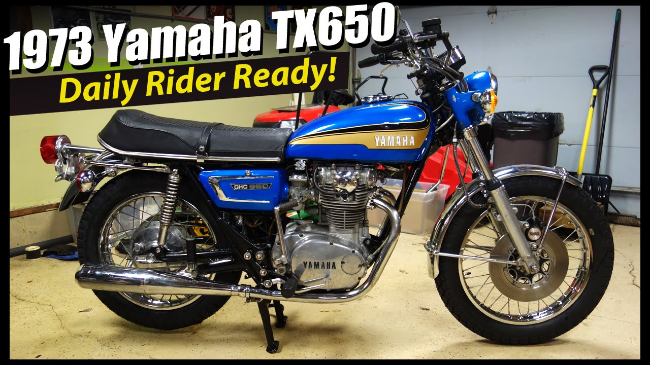 1973 yamaha tx650 project complete youtube for 1973 yamaha tx650