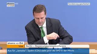 Steffen Seibert und Johannes Dimroth zum Ende der Sondierungen am 20.11.17