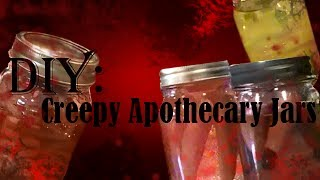 Diy Creepy Apothecary Jars