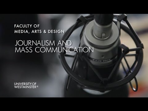 Journalism and Mass Communications at the University of Westminster