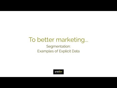 1MMV 048 - Segmentation: Examples of Explicit Data