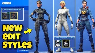*NEW* EDIT STYLES FOR RENEGADE RAIDER, WHITEOUT, ELITE AGENT & MORE! Fortnite BR (New Skin Styles)