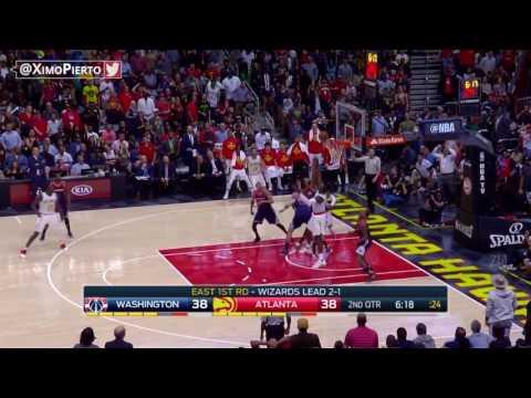 Atlanta Hawks vs Washington Wizards - Full Game Highlights   Game 4   April 24, 2017   NBA Playoffs