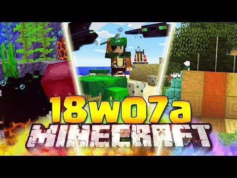 FINALMENTE LE NOVITÀ OCEANICHE - Minecraft ITA - 18w07a: Tartarughe, Phantom, Tridente, Alghe