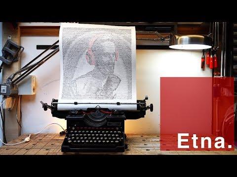 ASCII Art on a 80 year old typewriter - Pewdiepie edition