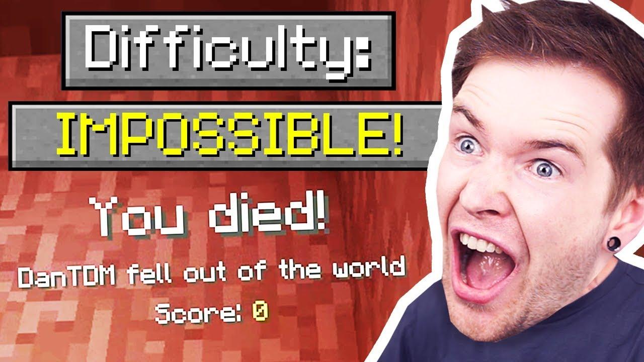 Ich habe UNMÖGLICH Minecraft gespielt ..  + video