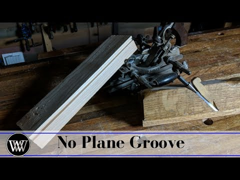 How to Cut a Groove Without a Plow Plane