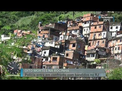 Favela da Rocinha, no Rio, vive mais um dia de tensão | SBT Brasil (24/03/18)